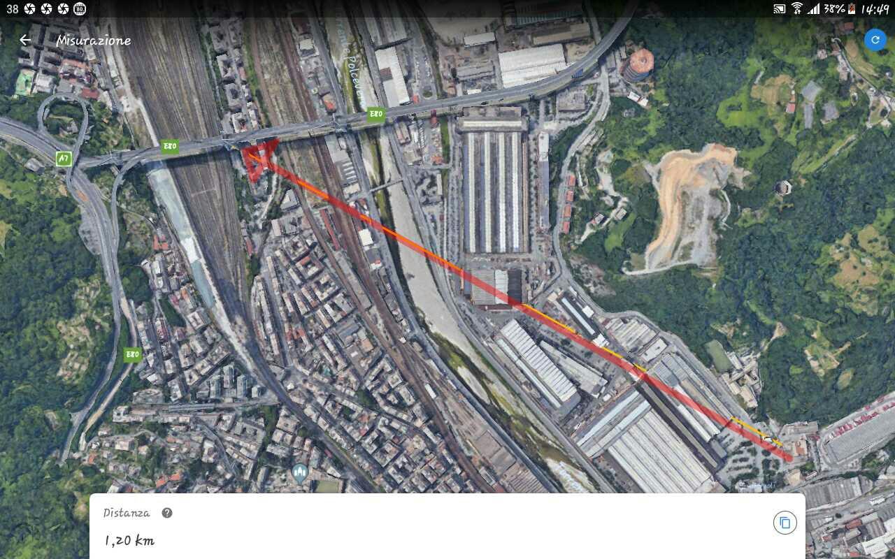 Illustrazione 52 - Visuale telecamera Corso Perrone 1200 metri ca